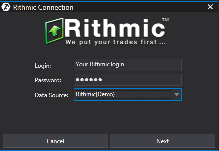 Connecting to Rithmic / Knowledge Base / ATAS support center